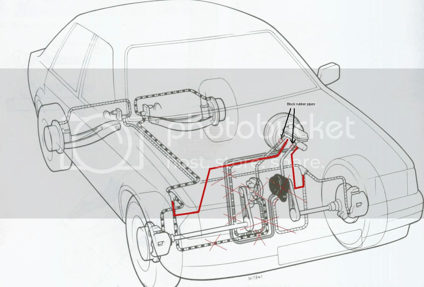 2007 Ford Focus Brake Line Diagram