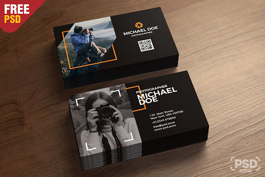 Photography Business Cards Template PSD - PSD Zone