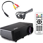 Pyle PRJG88 Compact Digital Multimedia Projector with 80-in Display Black 1-999 Fixed Home Theater Projection Screens