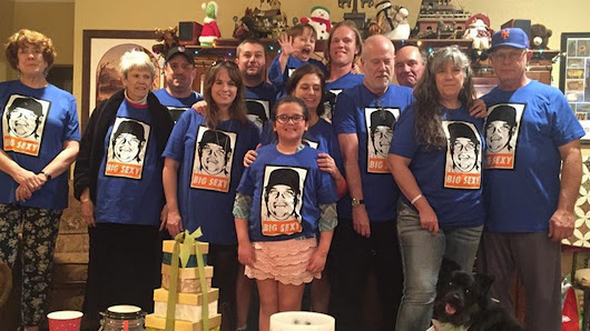 Noah Syndergaard's family all got Big Sexy t-shirts for Christmas
