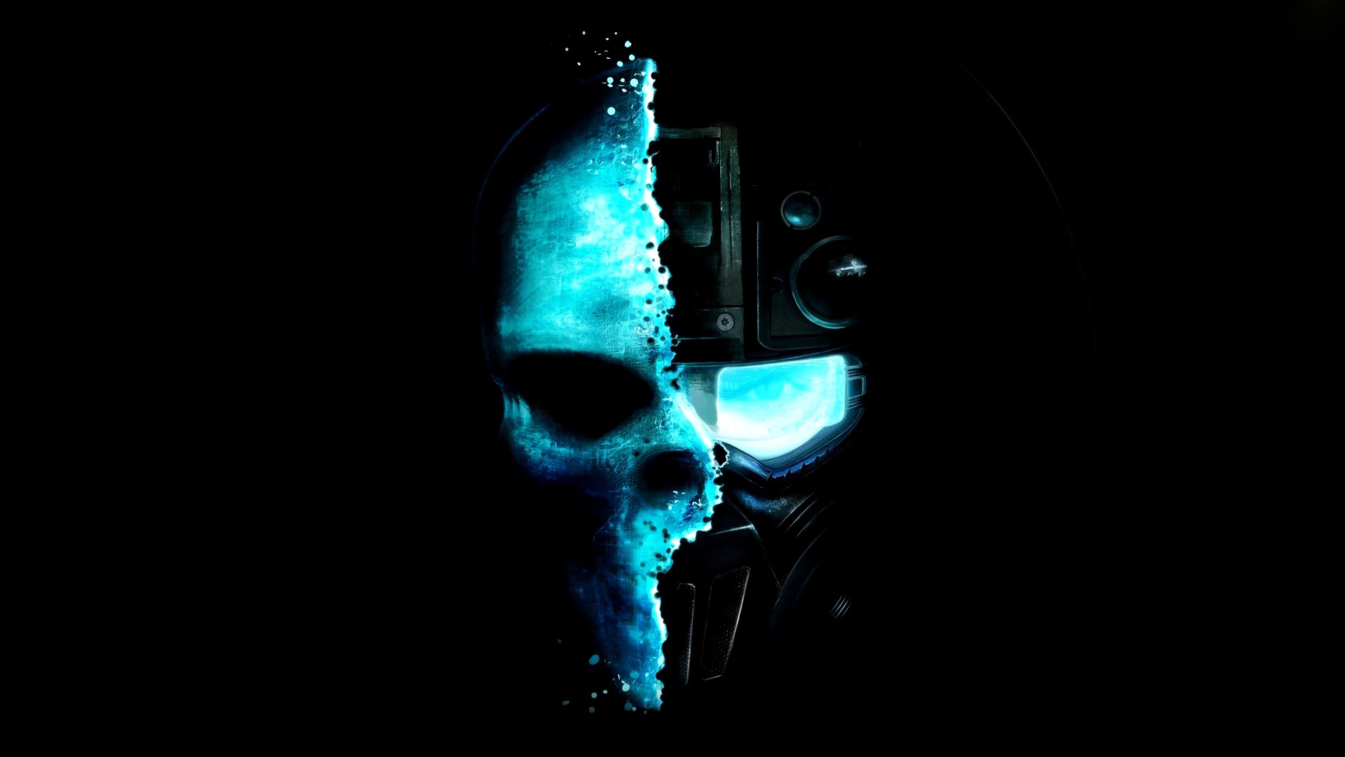 Cool Pictures Black And Blue Skull 4237424 1920x1080 All For