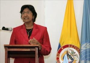 La Alta Comisionada de la ONU para los Derechos Humanos, Navi Pillay. EFE/Archivo