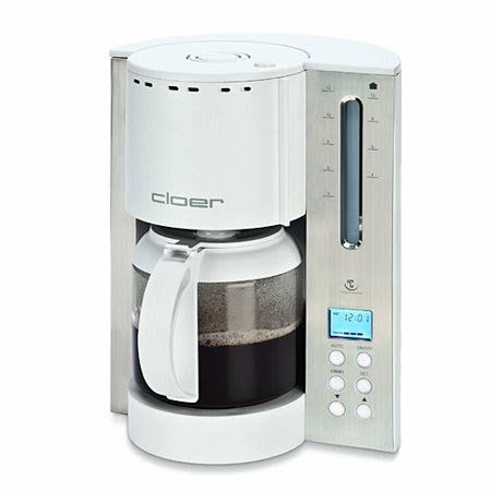 Cloer 5238NA 12-Cup Bitterness Eliminating Coffee Maker, Stainless Steel/White