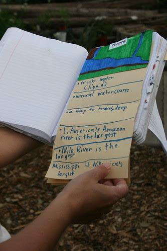school garden nature notebook