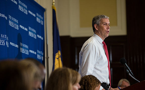 U.S. Secretary of Education Arne Duncan said new guidance clarifying that IEP goals should align with grade-level standards will help ensure that students with disabilities are prepared for college and career. (U.S. Department of Education/Flickr)