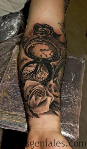 Tatuajes Para Hombres De Reloj De Bolsillo Anillo Diamante