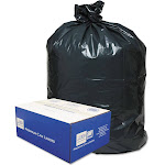 Classic 2-Ply Low-Density Can Liners 31-33gal .63 Mil 33 x 39 Black 250/Carton