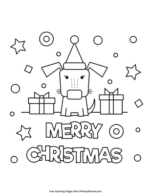 Merry Christmas Free Christmas Coloring Pages For Kids Drawing With Crayons
