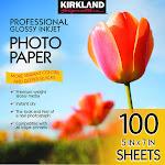 "Kirkland Signature 5"" X 7"" Professional Glossy Inkjet Photo Paper"