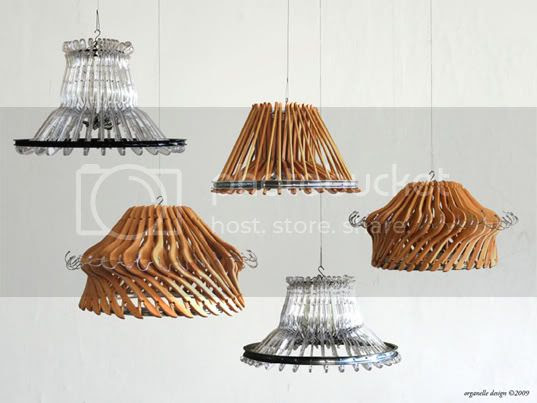 Clothes Hanger Chandeliers