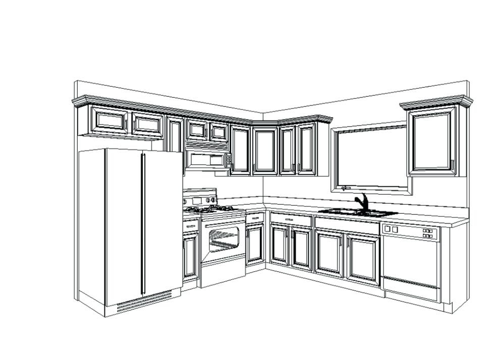 Kitchen Design Drawing at GetDrawings com Free for