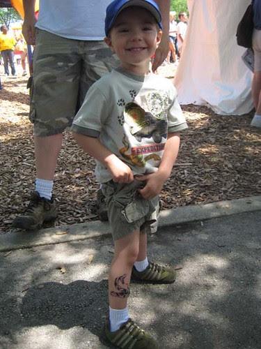 Nick's snake tat