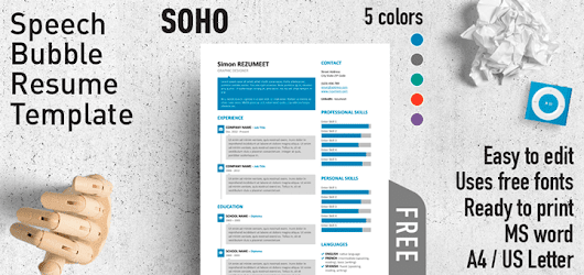 SoHo - Speech Bubble Resume Template