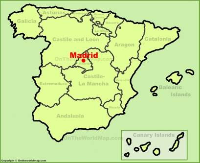 Madrid Maps | Spain | Maps of Madrid City