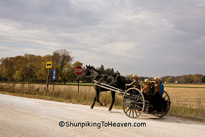 Amish Boys Riding Home from School, Filmore County, Minnesota
