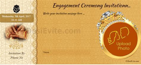 Ring Ceremony Invitation Card Maker Online   Trend Rings 2018