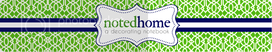 Noted Home: a decorating notebook