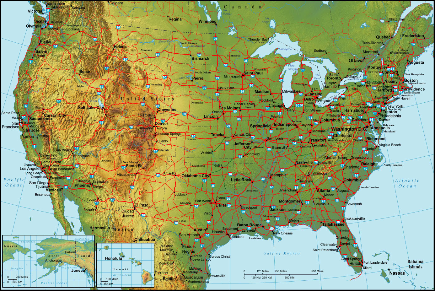 Southeastern Us Map With Cities - Southeast us map with cities