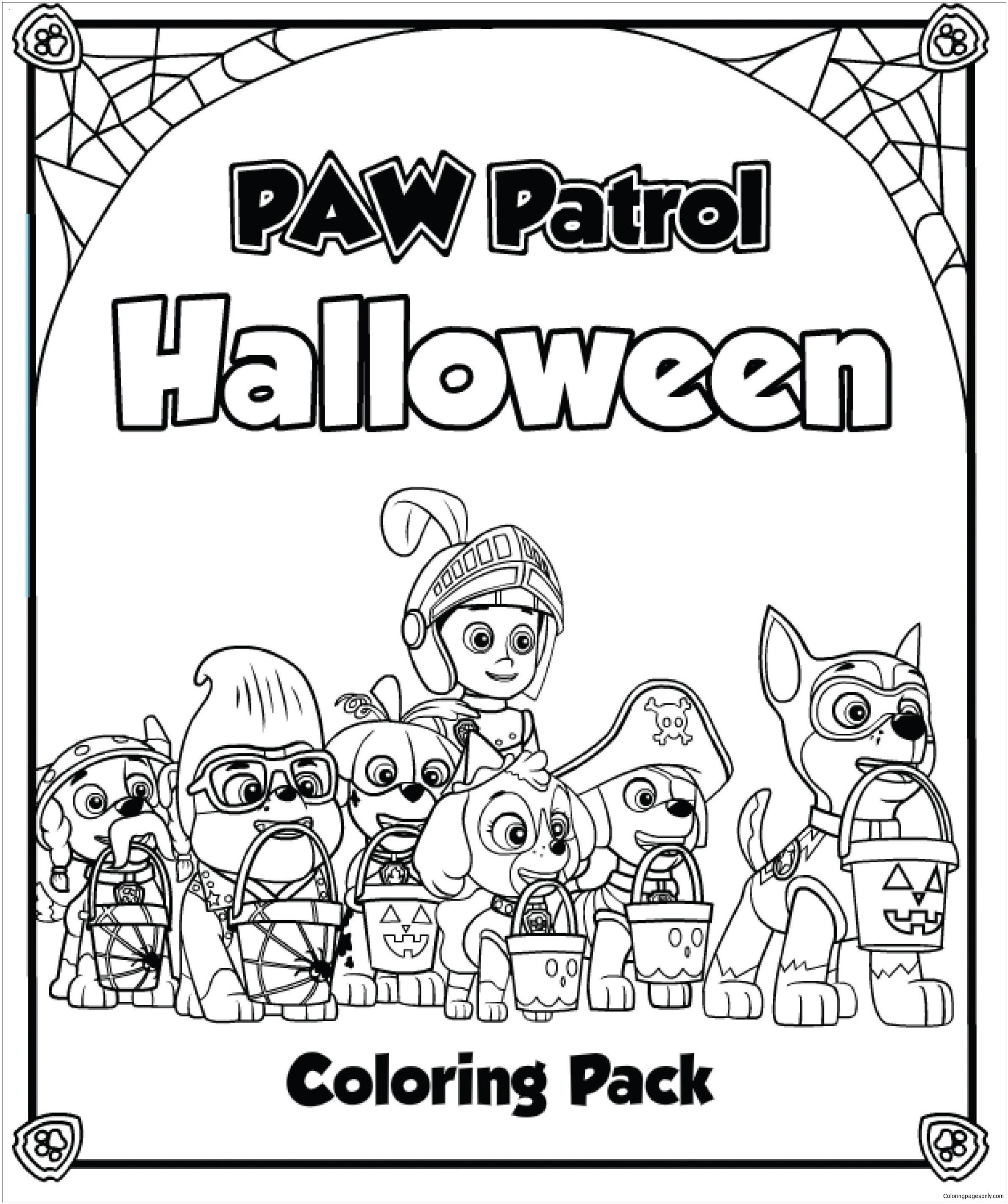 Paw Patrol Halloween Coloring Pages at GetColorings.com ...