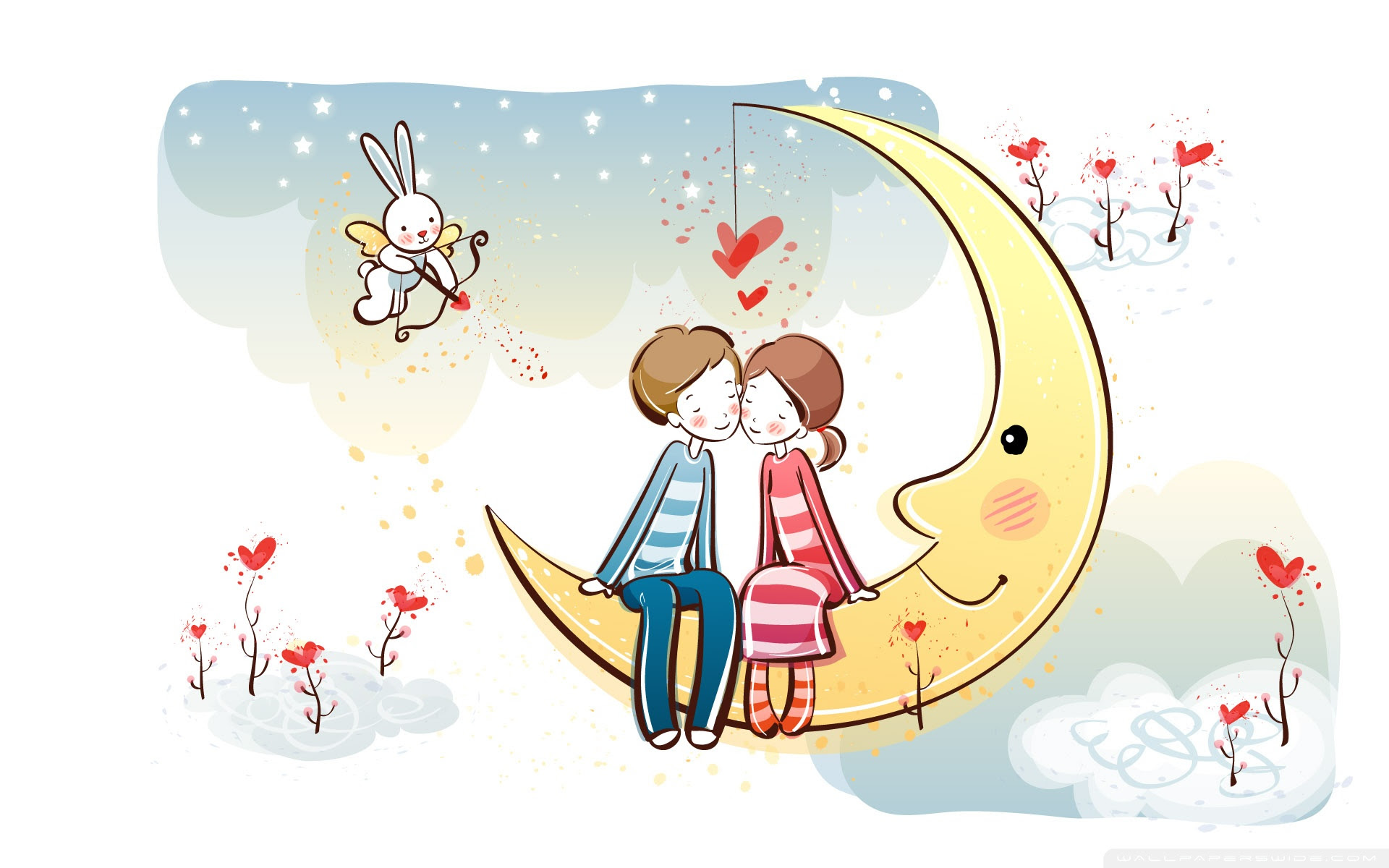 Sweet Couple On Moon 4k Hd Desktop Wallpaper For 4k Ultra Hd Tv Tablet Smartphone Mobile