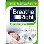 Breathe Right  Extra Clear  Nasal Strips for Sensitive Skin - 26 count
