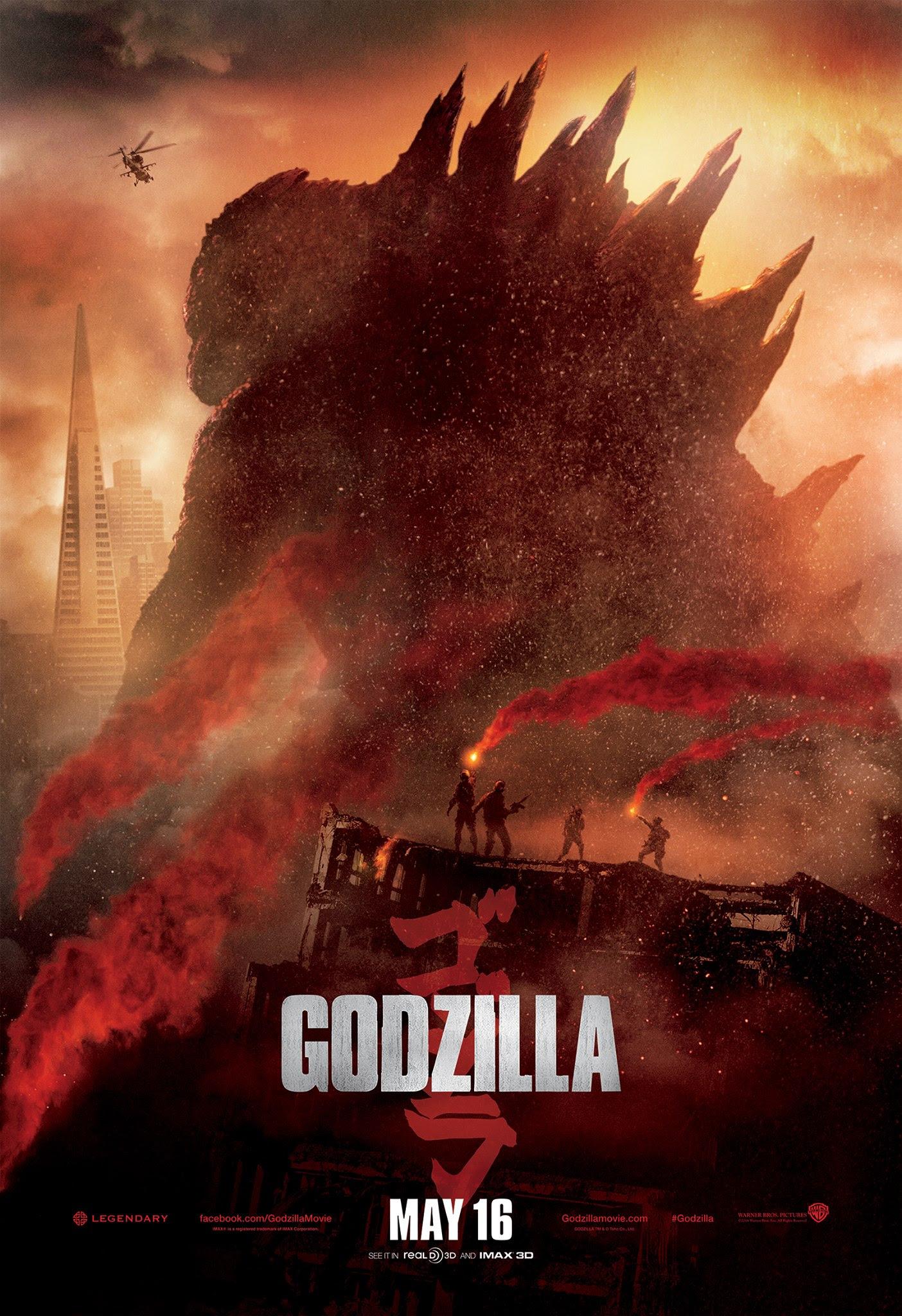 Resultado de imagem para Godzilla 2014 poster