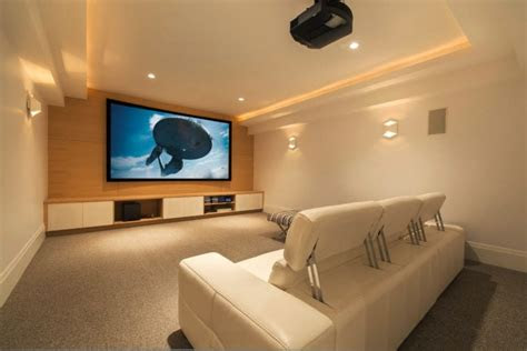 simple home theater room wall sconces comfy elements