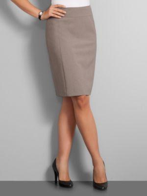 New York & Company Women's City Stretch Pencil Skirt - Smokey Taupe