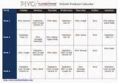 chalean extreme  piyo hybrid workout  week program