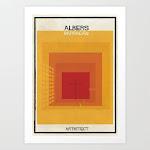 Albers+barragan Art Print by Federico Babina - X-Small