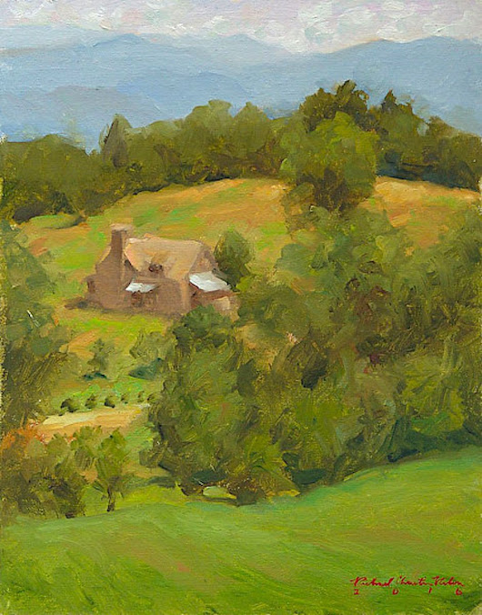 Blue Ridge Afternoon (2015) Oil painting by Richard  Nelson