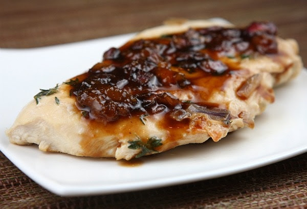 Apricot Balsamic Chicken, photo from recipegirl.com