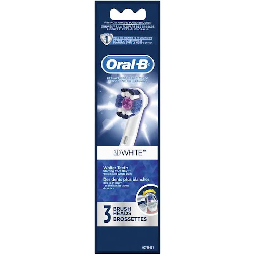Oral-B 3D White Electric Toothbrush Replacement Brush Head, 3 Count