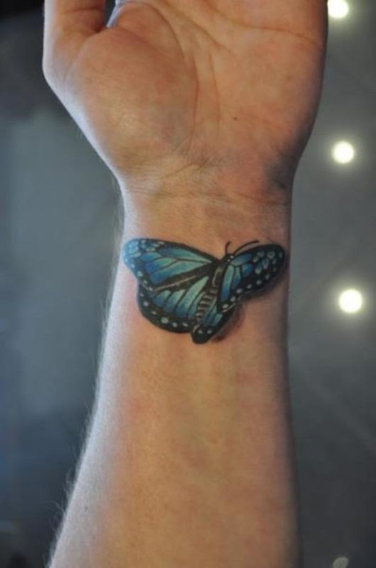 60 Butterfly Tattoos On Wrists