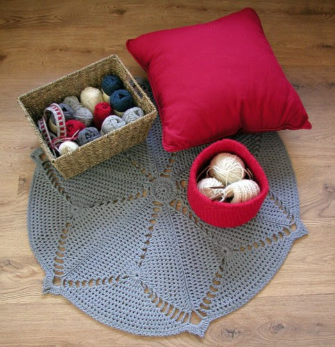 Crochet Starburst Floor Rug
