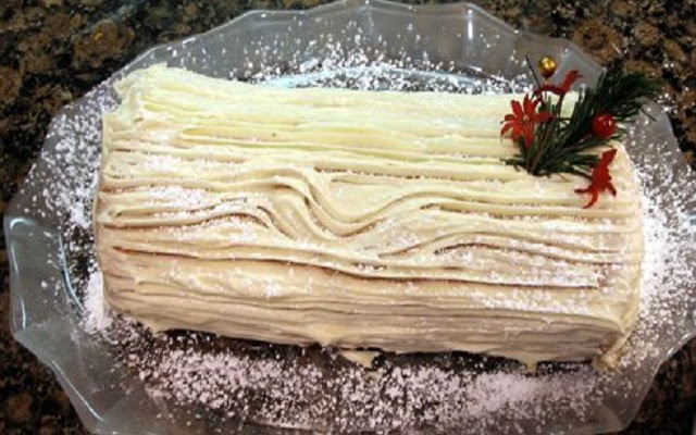 Tronco de Natal com Chantilly