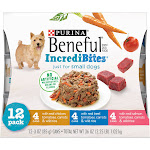 Beneful IncrediBites (Beef, Chicken, & Salmon Variety Pack) - Wet Dog Food - 3oz cans/12pk
