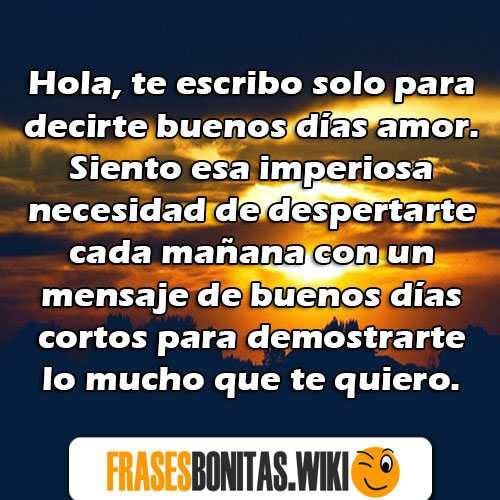 Frases Y Mensajes De Buenos Dias Amor Bonitos Originales Y Lindos