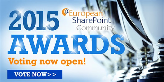 The European SharePoint Community Awards Finalists 2015