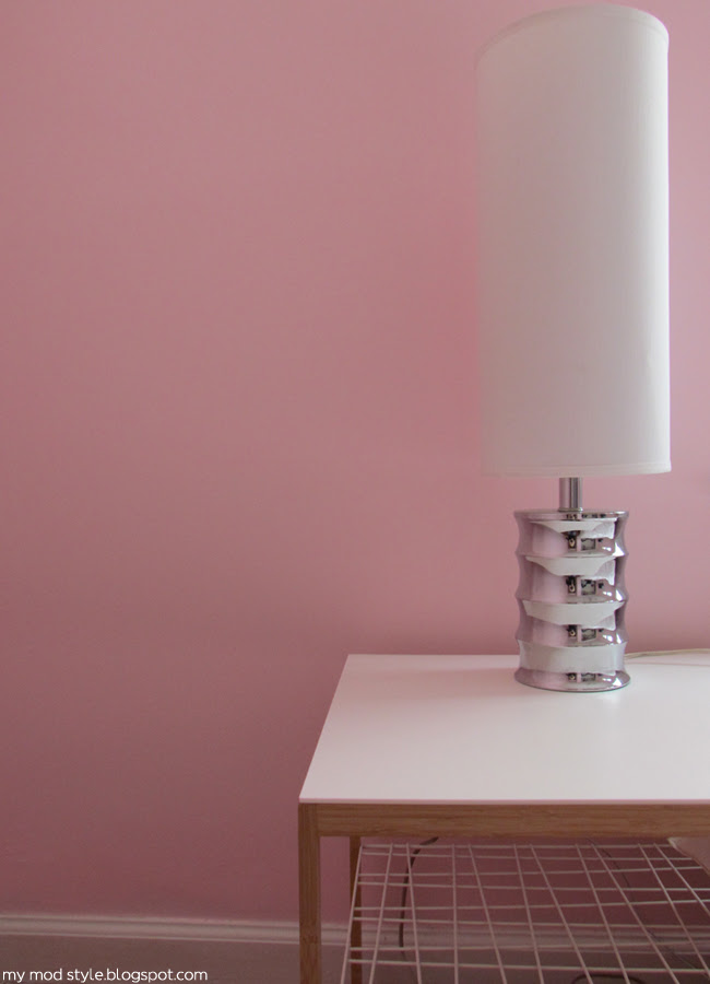Our Bedroom Pink Lamp Detail