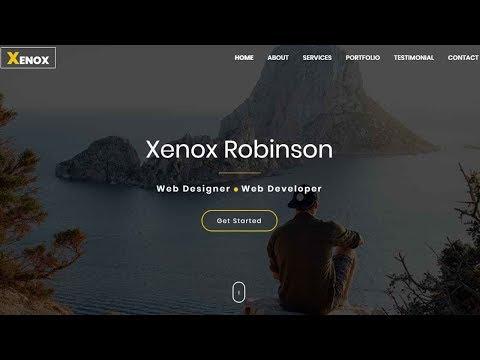 Xenox - One Page Personal Portfolio Template