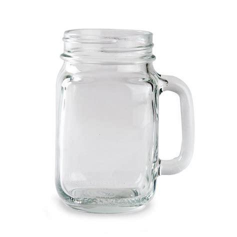 Libbey 97084 16 oz. Drinking Mason Jar with Handle   12