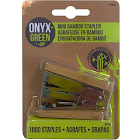 Onyx Green Mini Bamboo Stapler