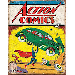 "Desperate Enterprises Action Comics No 1 Cover Tin Sign 12.5"" W X 16"" H"