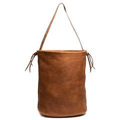 Soft Leather Bucket Bag