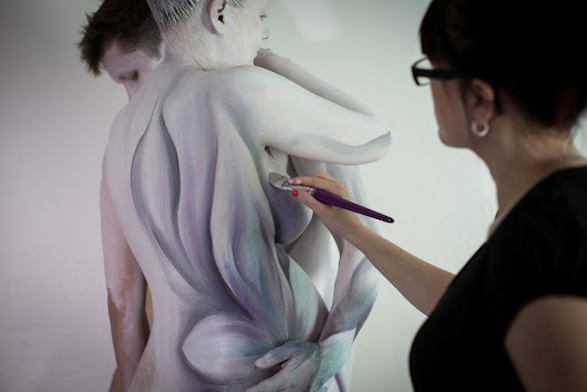 "Fine art body painting commission - ""Our vow"""
