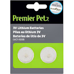 Premier Pet 3V Lithium Batteries, Pack of 2