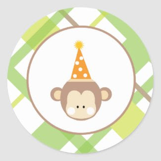 Sock Monkey Sticker sticker