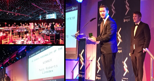 Matt Roberts Wins Search Personality of the Year At UK #SearchAwards | Linkdex (UK)