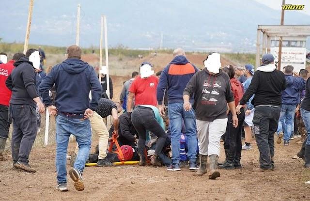 Ατύχημα σε πίστα motocross στα Γιαννιτσά - Δύο θεατές νοσηλεύονται σοβαρά! (βίντεο)
